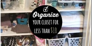 Watch How She Organizes This Closet For Less Than $10 At The Dollar Tree!