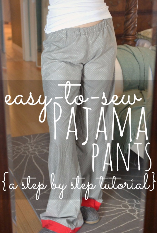 Best Sewing Projects to Make For Girls - Easy To Sew Pajama Pants - Creative Sewing Tutorials for Baby Kids and Teens - Free Patterns and Step by Step Tutorials for Dresses, Blouses, Shirts, Pants, Hats and Bags - Easy DIY Projects and Quick Crafts Ideas http://diyjoy.com/cute-sewing-projects-for-girls