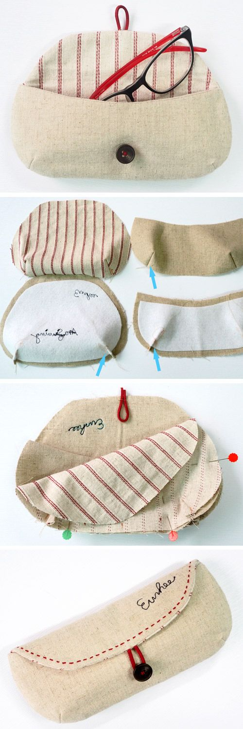 Best Sewing Projects to Make For Girls - Eye Glass Case - Creative Sewing Tutorials for Baby Kids and Teens - Free Patterns and Step by Step Tutorials for Dresses, Blouses, Shirts, Pants, Hats and Bags #sewing #sewingideas