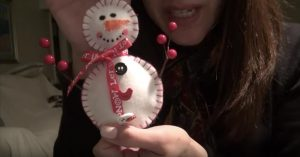 Watch How This Whispering Gal Makes This Absolutely Adorable Snowman!
