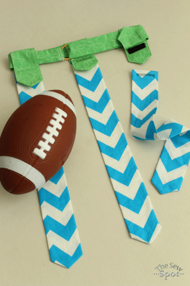 Best Sewing Projects to Make For Boys - Flag Football Belt - Creative Sewing Tutorials for Baby Kids and Teens - Free Patterns and Step by Step Tutorials for Jackets, Jeans, Shirts, Pants, Hats, Backpacks and Bags - Easy DIY Projects and Quick Crafts Ideas #sewing #kids #boys #sewingprojects