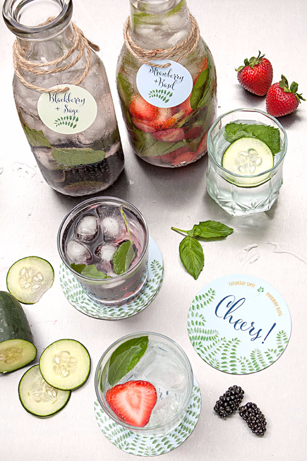 Best DIY Detox Waters and Recipes - Flavored Detox Water - Homemade Detox Water Instructions and Tutorials - Lose Weight and Remove Toxins From the Body for Your New Years Resolutions - Easy and Quick Recipe Ideas for Getting Healthy in 2017 - DIY Projects and Crafts by DIY Joy