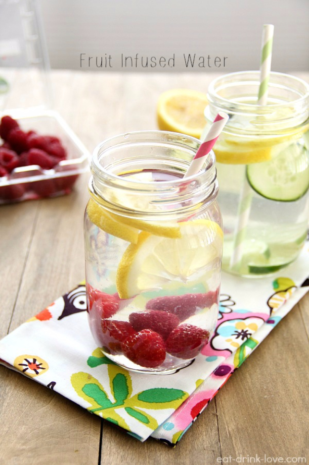 Best DIY Detox Waters and Recipes - Fruit Infused Water - Homemade Detox Water Instructions and Tutorials - Lose Weight and Remove Toxins From the Body for Your New Years Resolutions - Easy and Quick Recipe Ideas for Getting Healthy in 2017 - DIY Projects and Crafts by DIY Joy