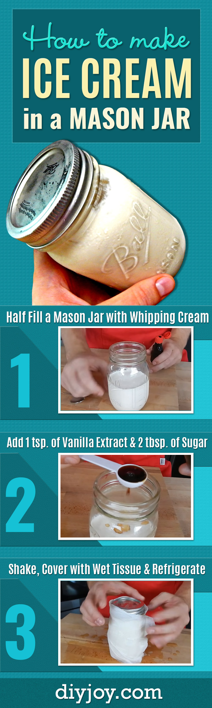 Mason Jar Ice Cream Recipe