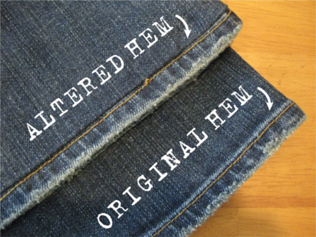sewing hacks - Hemming Distressed Jeans - Best Tips and Tricks for Sewing Patterns, Projects, Machines, Hand Sewn Items #sewing #hacks