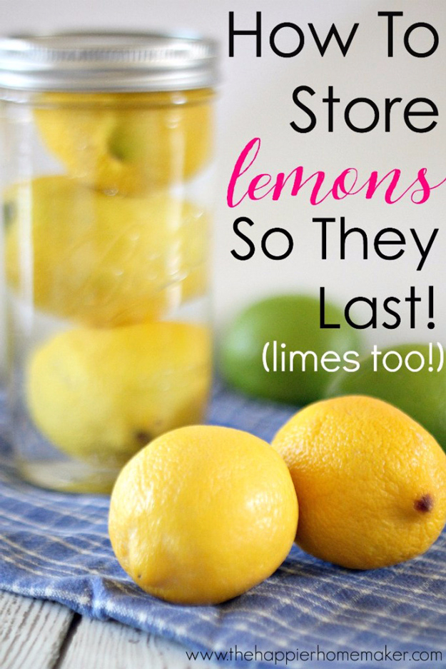 Best DIY Hacks for The New Year - Keep Lemons Fresh Longer - Easy Organizing and Home Improvement Ideas - Tips and Tricks for Quick DIY Ideas to Simplify Life - Step by Step Hack Tutorials for Genuis Ways to Make Quick Things Easier #diyhacks #hacks