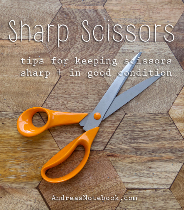 sewing hacks - How to Keep Your Scissors Sharp - Best Tips and Tricks for Sewing Patterns, Projects, Machines, Hand Sewn Items #sewing #hacks