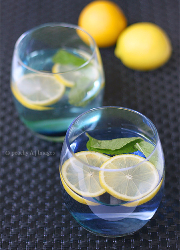 Best DIY Detox Waters and Recipes - Lemon And Mint Detox Water - Homemade Detox Water Instructions and Tutorials - Lose Weight and Remove Toxins From the Body for Your New Years Resolutions - Easy and Quick Recipe Ideas for Getting Healthy in 2017 - DIY Projects and Crafts by DIY Joy