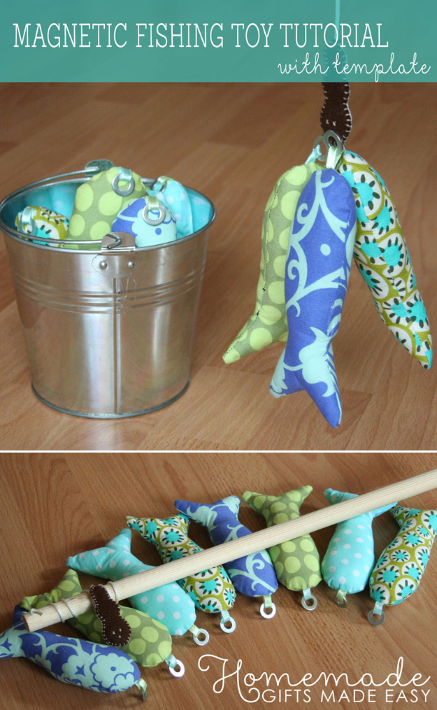 Best Sewing Projects to Make For Boys - Magnetic Fishing Toy - Creative Sewing Tutorials for Baby Kids and Teens - Free Patterns and Step by Step Tutorials for Jackets, Jeans, Shirts, Pants, Hats, Backpacks and Bags - Easy DIY Projects and Quick Crafts Ideas #sewing #kids #boys #sewingprojects