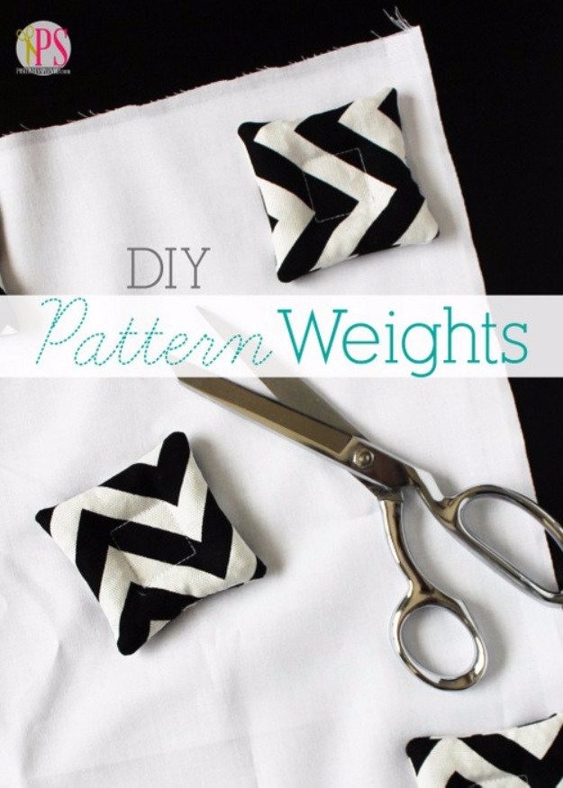 sewing hacks - Make Your Own pattern Weights - Best Tips and Tricks for Sewing Patterns, Projects, Machines, Hand Sewn Items #sewing #hacks