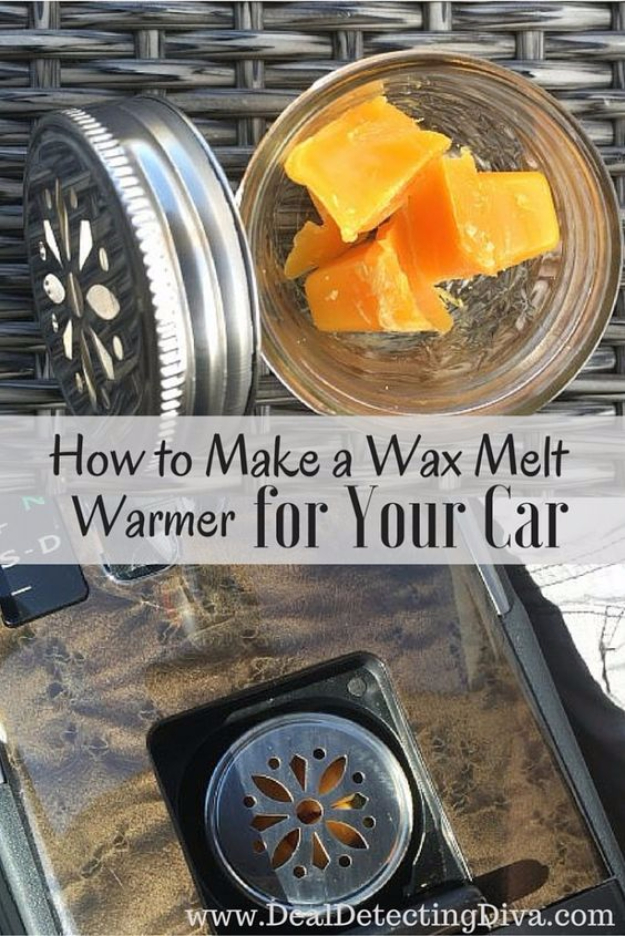 DIY Car Accessories and Ideas for Cars - Make a Wax Melt Warmer for Your Car - Interior and Exterior, Seats, Mirror, Seat Covers, Storage, Carpet and Window Cleaners and Products - Decor, Keys and Iphone and Tablet Holders - DIY Projects and Crafts for Women and Men