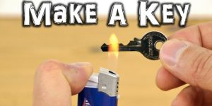 He Shows Us How To Make An Emergency Spare Key Fast And Easy!