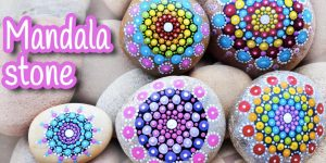 She Paints Mandalas On Rocks And They Are Awesome Gifts And Decor Accents!