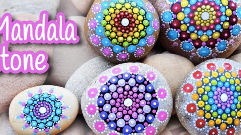 She Paints Mandalas On Rocks And They Are Awesome Gifts And Decor Accents! | DIY Joy Projects and Crafts Ideas