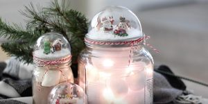 Watch How Fun And Easy It Is To Make A Snow Globe Out Of A Mason Jar Lid!