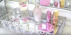 You Won't Believe How Easily And Cheap She Makes This Lovely Mirrored Vanity Tray!