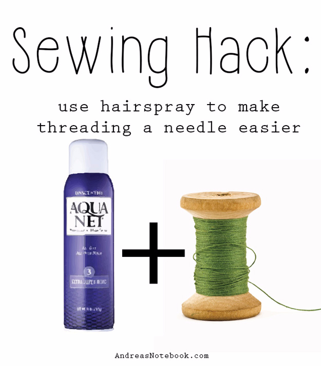 Best DIY Hacks for The New Year - Needle Threading Secret - Easy Organizing and Home Improvement Ideas - Tips and Tricks for Quick DIY Ideas to Simplify Life - Step by Step Hack Tutorials for Genuis Ways to Make Quick Things Easier http://diyjoy.com/best-diy-hacks