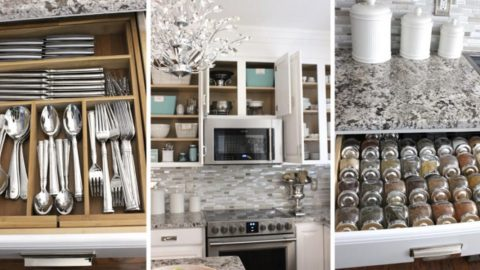 She Shows Some Incredible Organizing Tips For The Kitchen (Watch!) | DIY Joy Projects and Crafts Ideas