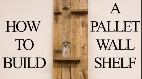 Watch How He Builds This Great Pallet Wood Shelf! | DIY Joy Projects and Crafts Ideas