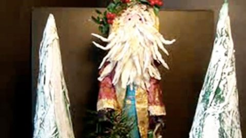 She Makes The Coolest Paper Mache Santa You're Gonna Want To Know How To Do!   DIY Joy Projects and Crafts Ideas
