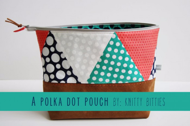 Best Sewing Projects to Make For Girls - Polka Dot Pouch - Creative Sewing Tutorials for Baby Kids and Teens - Free Patterns and Step by Step Tutorials for Dresses, Blouses, Shirts, Pants, Hats and Bags #sewing #sewingideas