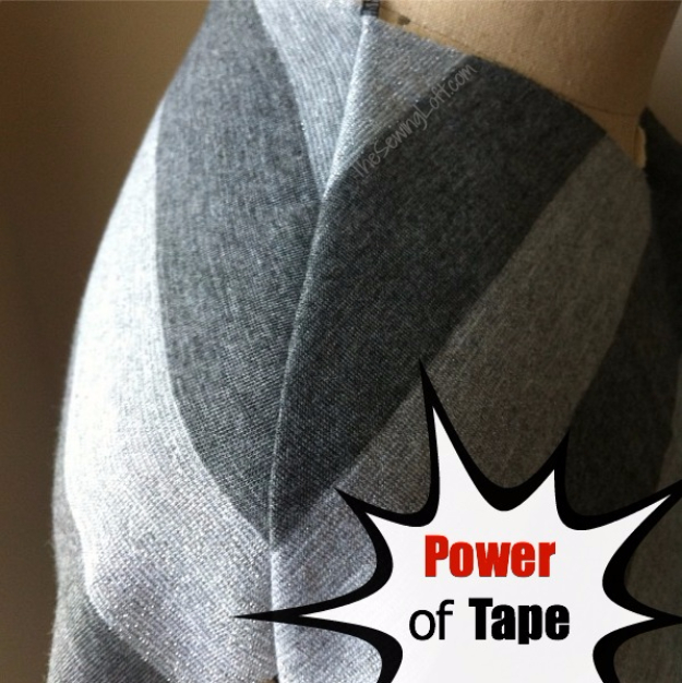sewing hacks - Power Of Stay Tape - Best Tips and Tricks for Sewing Patterns, Projects, Machines, Hand Sewn Items #sewing #hacks