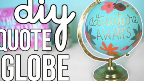 She Repurposes An Old World Globe Into Something Fabulous And Uplifting (Anthropologie Inspired!) | DIY Joy Projects and Crafts Ideas
