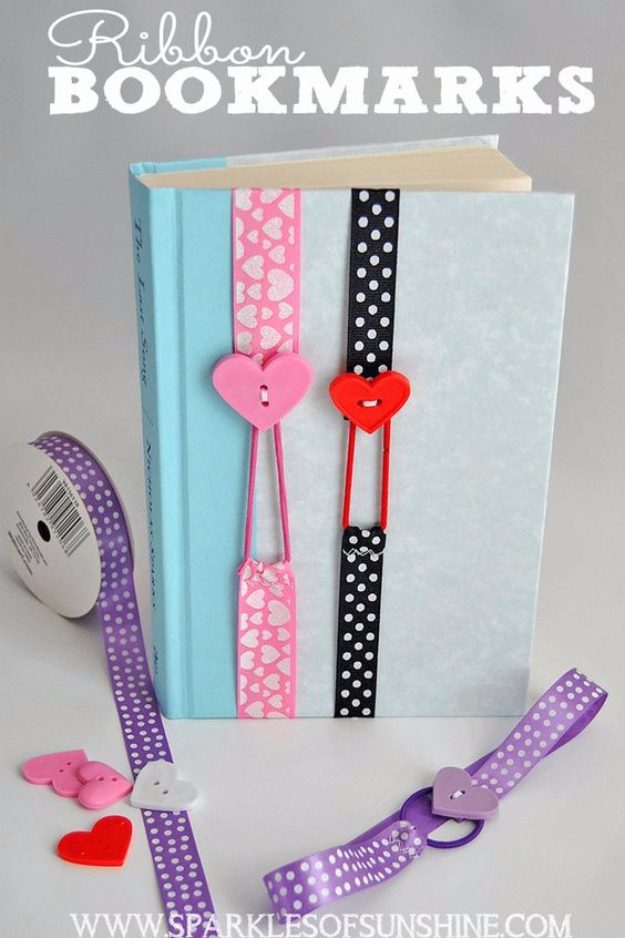 Best Sewing Projects to Make For Girls - Ribbon Bookmarks - Creative Sewing Tutorials for Baby Kids and Teens - Free Patterns and Step by Step Tutorials for Dresses, Blouses, Shirts, Pants, Hats and Bags #sewing #sewingideas