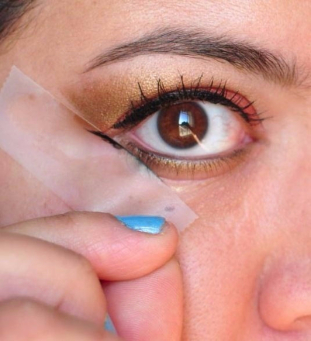 Best DIY Hacks for The New Year - Scotch Tape Eye Stencil - Easy Organizing and Home Improvement Ideas - Tips and Tricks for Quick DIY Ideas to Simplify Life - Step by Step Hack Tutorials for Genius Ways to Make Quick Things Easier #diyhacks #hacks
