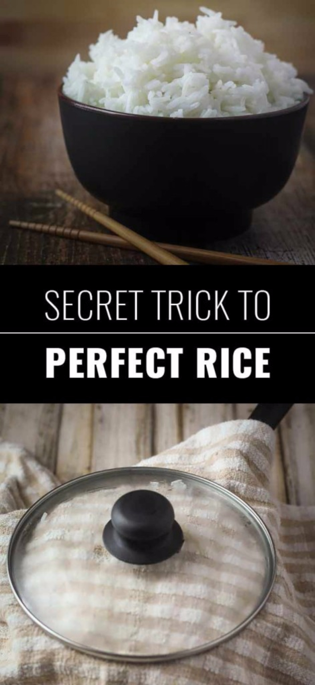 Best DIY Hacks for The New Year - Secret Trick To Perfect Rice - Easy Organizing and Home Improvement Ideas - Tips and Tricks for Quick DIY Ideas to Simplify Life - Step by Step Hack Tutorials for Genuis Ways to Make Quick Things Easier http://diyjoy.com/best-diy-hacks