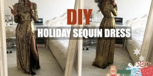 She Makes A Stunning Sequin Holiday Dress Just In Time For New Years Eve!