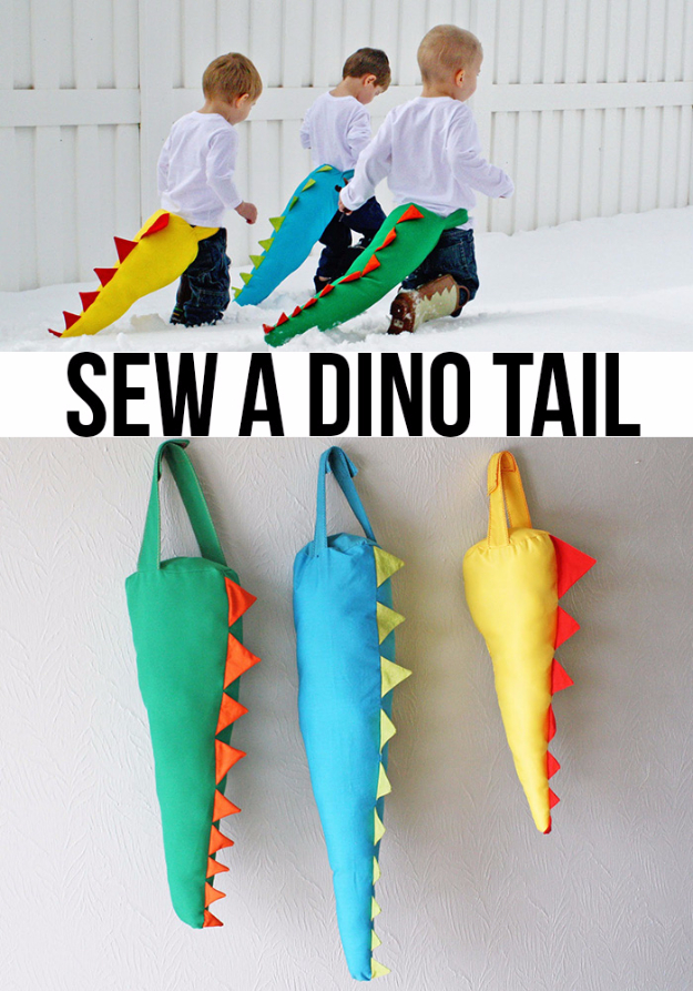 Best Sewing Projects to Make For Boys - Sew A Dino Tail - Creative Sewing Tutorials for Baby Kids and Teens - Free Patterns and Step by Step Tutorials for Jackets, Jeans, Shirts, Pants, Hats, Backpacks and Bags - Easy DIY Projects and Quick Crafts Ideas #sewing #kids #boys #sewingprojects