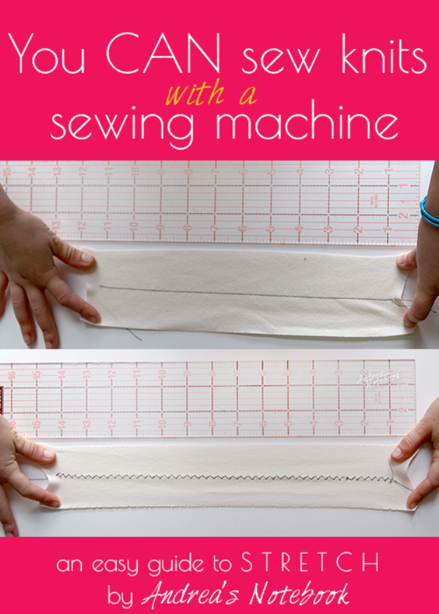 sewing hacks - How to Sew Knits With A Sewing Machine - Best Tips and Tricks for Sewing Patterns, Projects, Machines, Hand Sewn Items #sewing #hacks