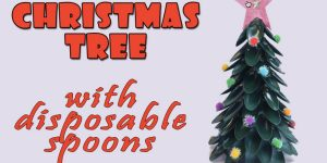 Watch How She Makes This Amazing Christmas Tree Out Of Disposable Spoons!