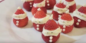 She Makes The Most Precious Strawberry Santas For All Her Grand Christmas Festivities (Watch!)
