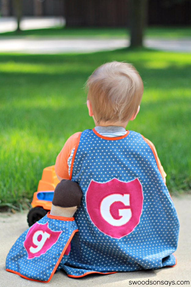 Sewing Ideas For Boys - Superhero Toy Cape - Easy Sewing Tutorials for Baby Kids and Teens - Free Patterns and Step by Step Tutorials for Toddler Clothes, Shirts #sewing #kids #boys #sewingprojects