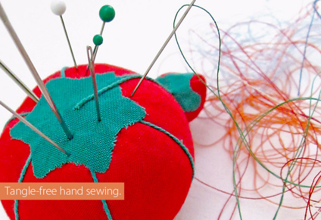 sewing hacks - Tangle Free Hand Sewing - Best Tips and Tricks for Sewing Patterns, Projects, Machines, Hand Sewn Items #sewing #hacks