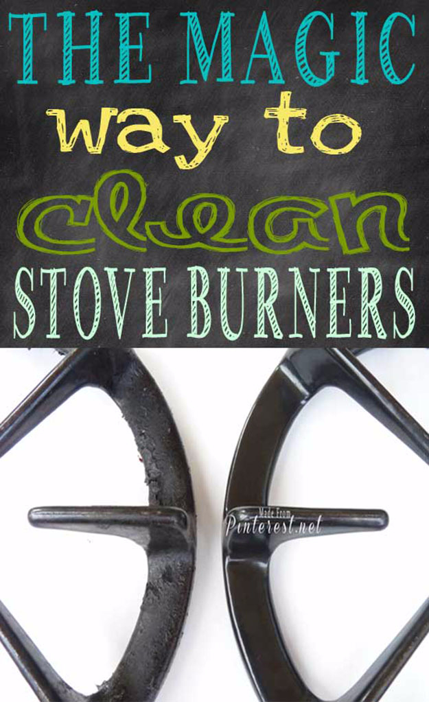 Best DIY Hacks for The New Year - The Magic Way To Clean Stove Burners - Easy Organizing and Home Improvement Ideas - Tips and Tricks for Quick DIY Ideas to Simplify Life - Step by Step Hack Tutorials for Genuis Ways to Make Quick Things Easier http://diyjoy.com/best-diy-hacks