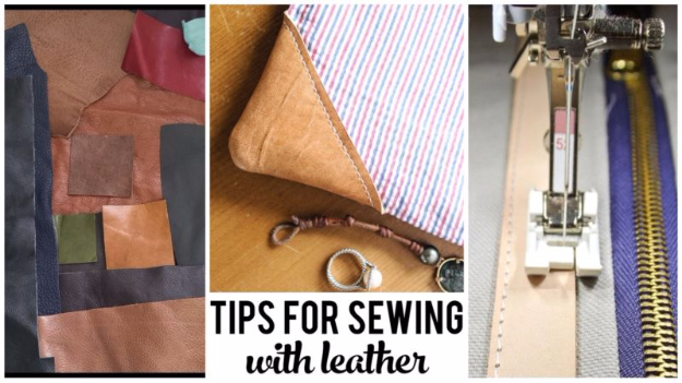 sewing hacks - Tips For Sewing With Leather - Best Tips and Tricks for Sewing Patterns, Projects, Machines, Hand Sewn Items #sewing #hacks