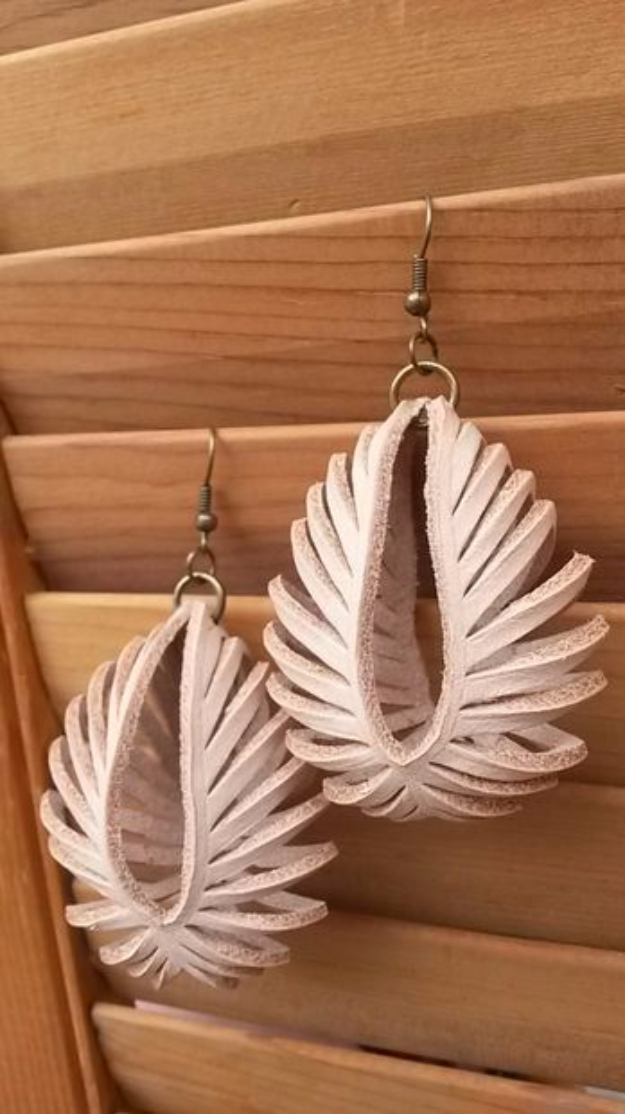 Creative Leather Crafts - Transformable Leather Sculpted Earrings - Best DIY Projects Made With Leather - Easy Handmade Do It Yourself Gifts and Fashion - Cool Crafts and DYI Leather Projects With Step by Step Tutorials http://diyjoy.com/diy-leather-crafts