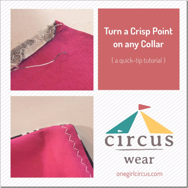 sewing hacks - Turn A Crisp Point On Any Collar - Best Tips and Tricks for Sewing Patterns, Projects, Machines, Hand Sewn Items #sewing #hacks
