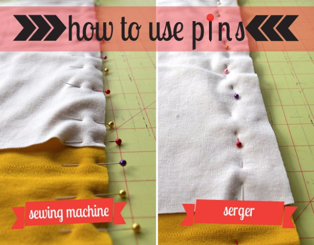 sewing hacks - Use Pins The Right Way- Best Tips and Tricks for Sewing Patterns, Projects, Machines, Hand Sewn Items #sewing #hacks