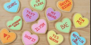 Check Out These Adorable Conversation Valentine's Heart Cookies She Makes!