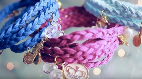 These Are Super Cool Wrapped Braided Charm Bracelets She Makes (Watch!) | DIY Joy Projects and Crafts Ideas