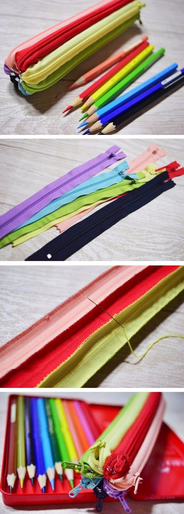 Creative DIY Projects With Zippers - Zipper Pencil Case - Easy Crafts and Fashion Ideas With A Zipper - Jewelry, Home Decor, School Supplies and DIY Gift Ideas - Quick DIYs for Fun Weekend Projects