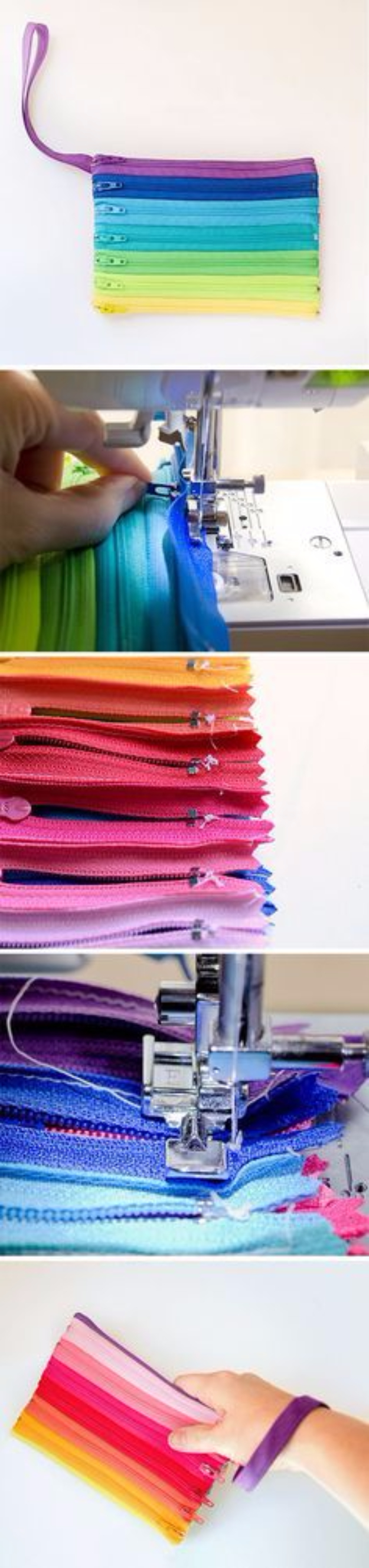 Creative DIY Projects With Zippers - Zippered Clutch - Easy Crafts and Fashion Ideas With A Zipper - Jewelry, Home Decor, School Supplies and DIY Gift Ideas - Quick DIYs for Fun Weekend Projects http://diyjoy.com/diy-projects-zippers