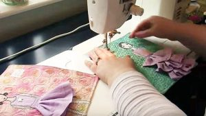 Watch How She Makes This Creative Art Quilt With Girls In Their Fancy Dresses On It