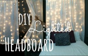 Watch How She Makes A Stunning Headboard Out Of Lights And Creates Her Own Starry Night!