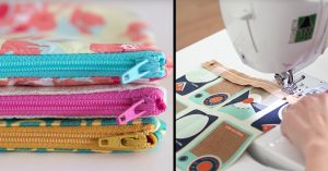 Learn How To Make These 15 Minute Zipper Pouches
