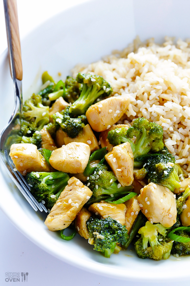 Quick and Healthy Dinner Recipes - 12 Minute Chicken And Broccoli - Easy and Fast Recipe Ideas for Dinners at Home - Chicken, Beef, Ground Meat, Pasta and Vegetarian Options - Cheap Dinner Ideas for Family, for Two , for Last Minute Cooking #recipes #healthyrecipes